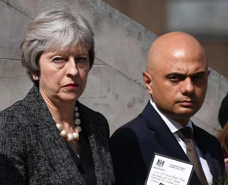 Sajid Javid Theresa May