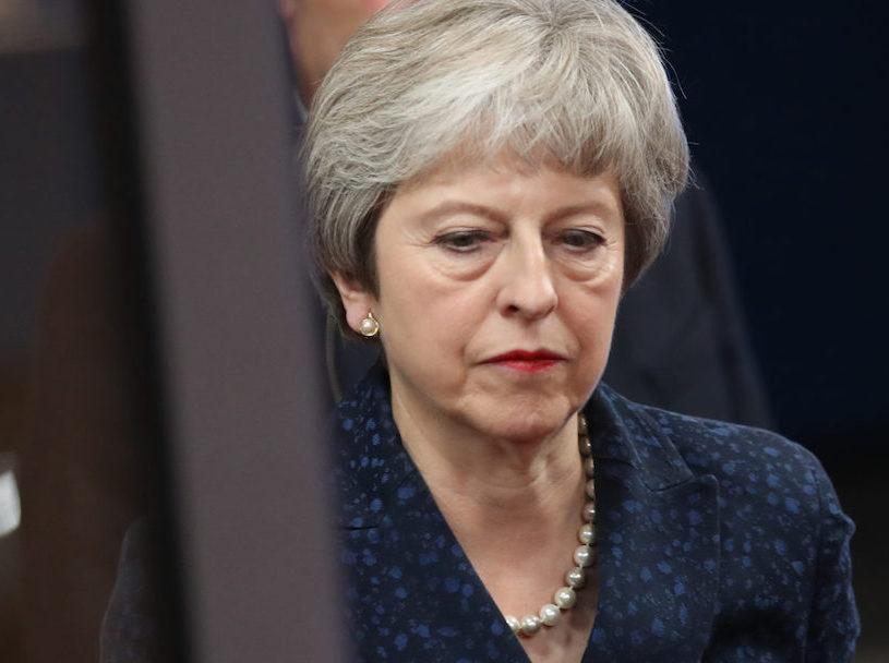 Theresa May no deal