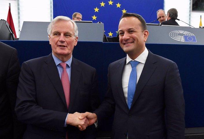 Michel Barnier and Leo Varadkar