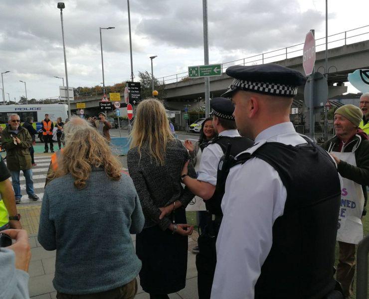 Extinction Rebellion Protest London City Airport