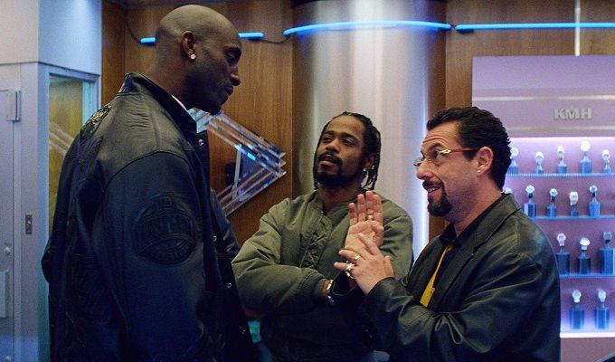 Kevin Garnett and Lakeith Stanfield and-Adam Sandler in Uncut Gems