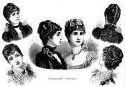 women's hair -1890 compared