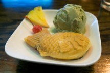 Taiyaki with Green Tea Ice Cream - Lucky Cat
