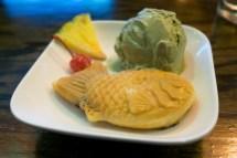 Taiyaki with Green Tea Ice Cream - Lucky Cat