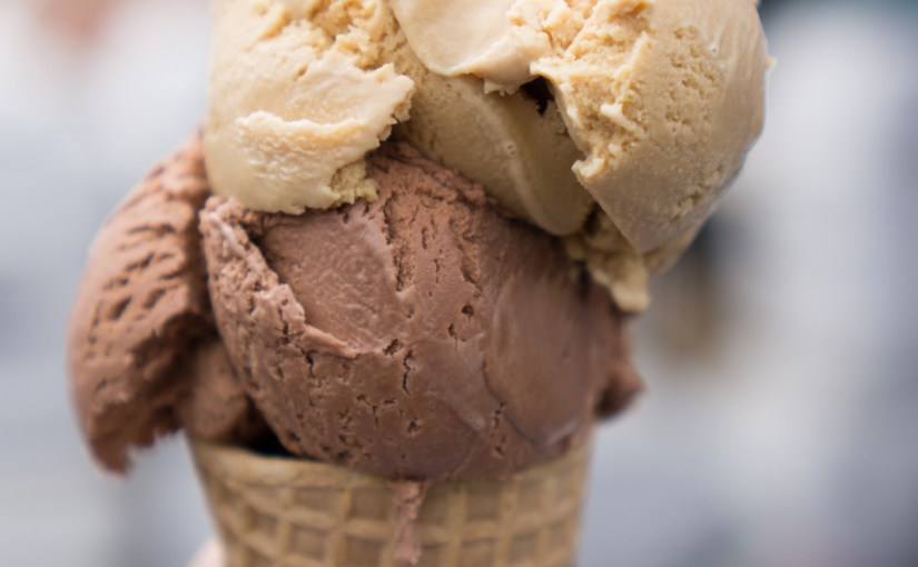 Salted Caramel & Chocolate Ice Cream Cone - Blue Marble Ice Crea