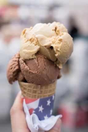 Salted Caramel & Chocolate Ice Cream Cone - Blue Marble Ice Crea