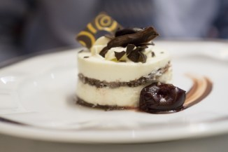 Chocolate and Vanilla Dessert - Westerdam Cruise