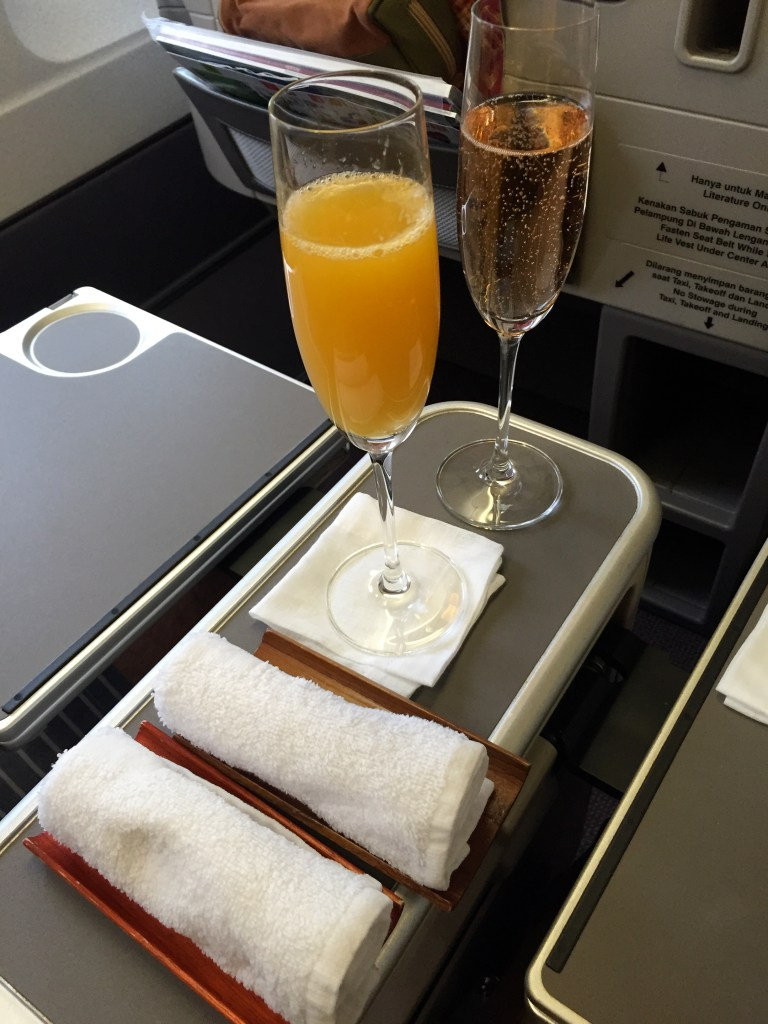 Brut Rose Champagne from Garuda Indonesia