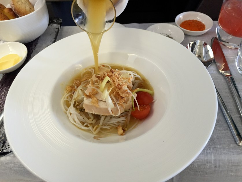Garuda Indonesia Business Class Soup