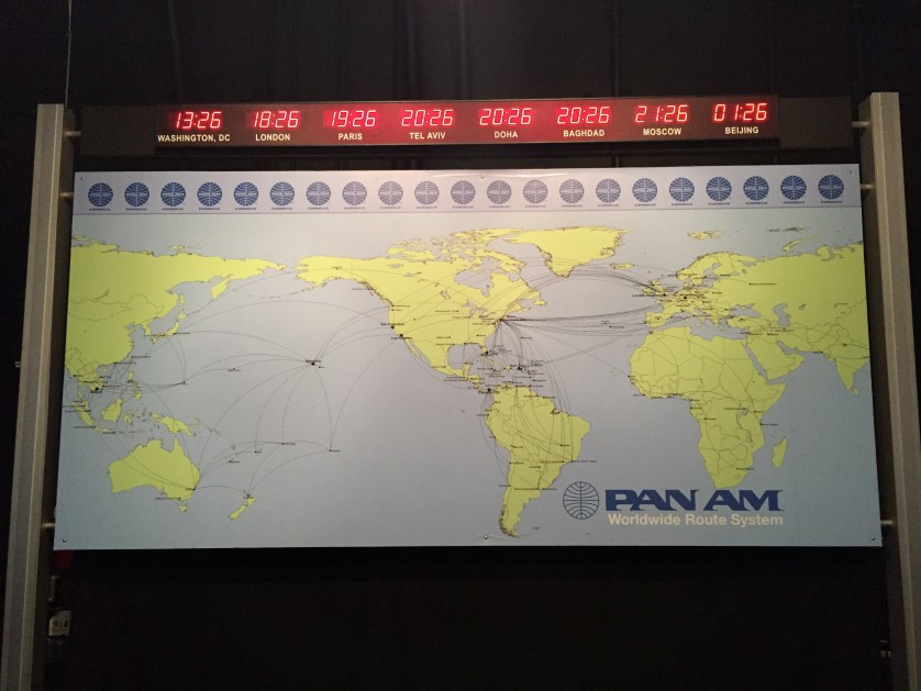 Pan Am Flight Map