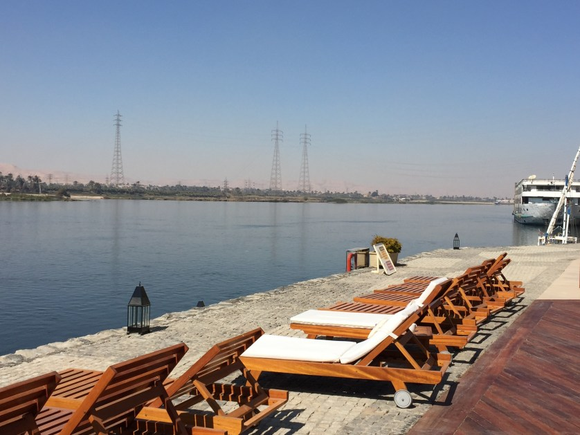 Chaise Lounges facing the Nile River