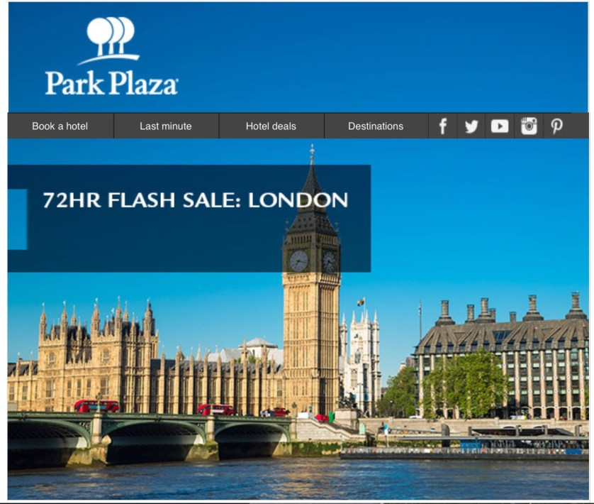 Park Plaza Flash Sale