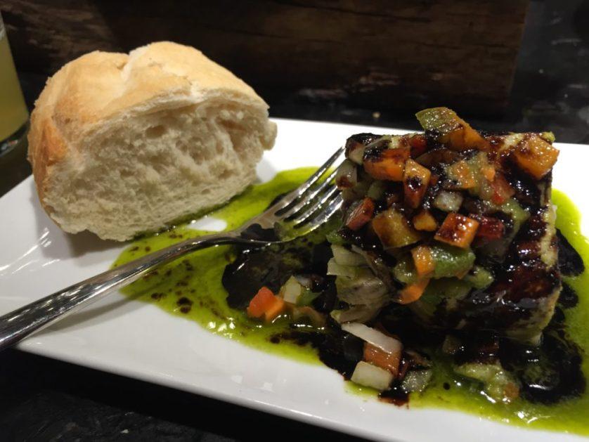 Bonito fish and bread,