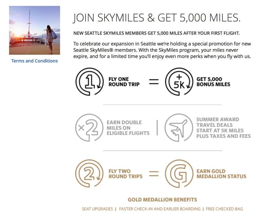 Delta's Seattle Bonus
