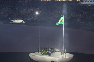Raising the Brazilian Flag