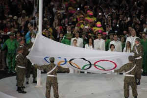 Raising of the Olympic Flag