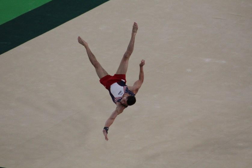 Flipping through the air