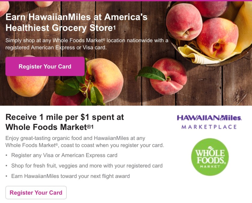 Hawaiian Airlines Whole Foods