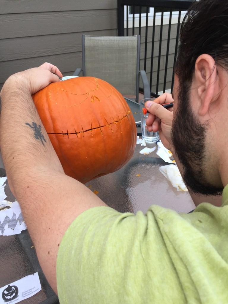 Ben Freestyling his pumpkin
