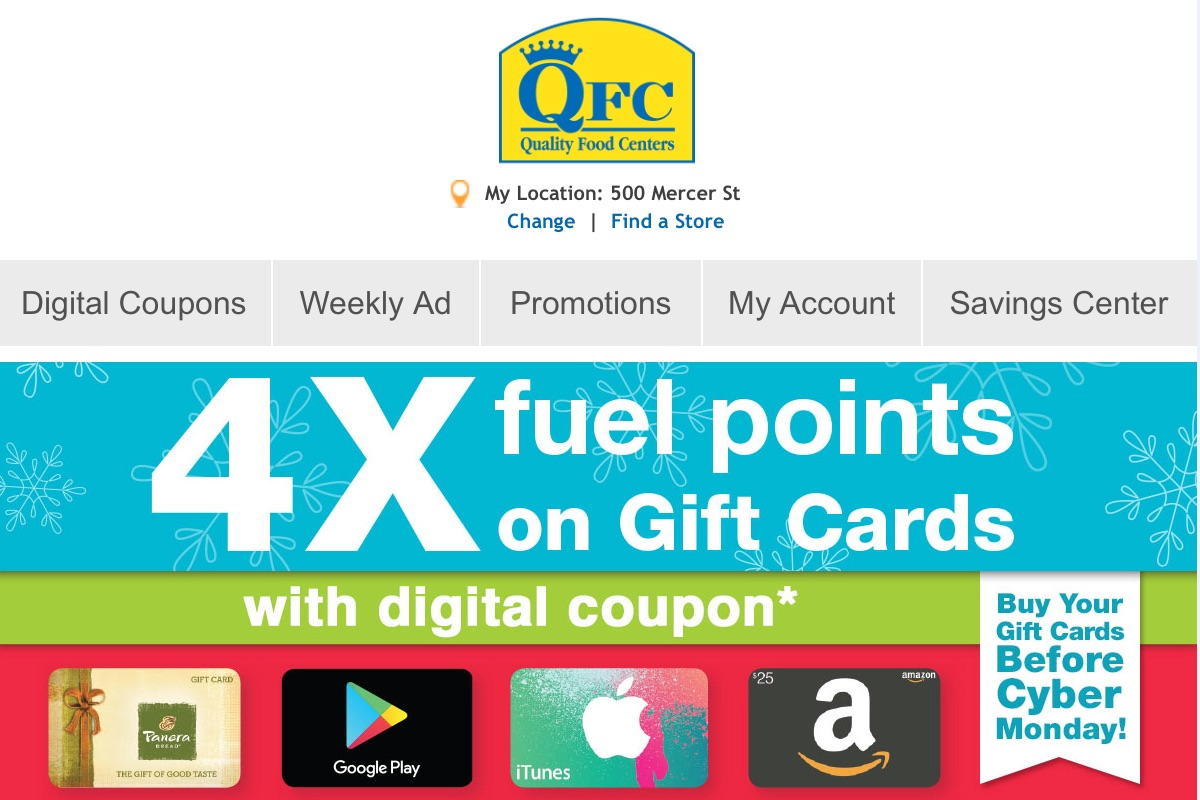 Great Black Friday Gift Card Deals! Kroger to the Rescue! | No Mas ...