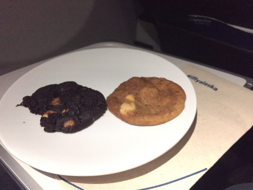 Nom nom! The flight attendant got to ours first :)
