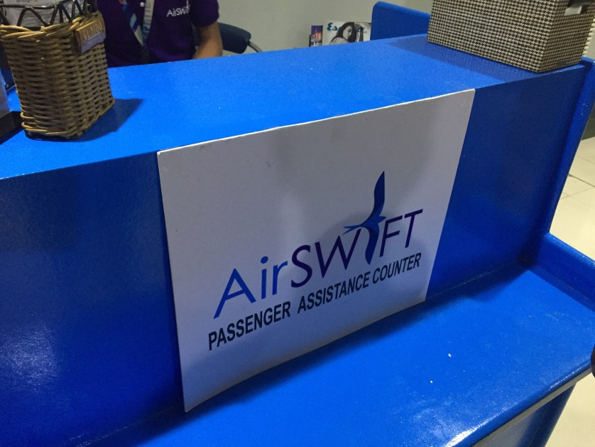 Air Swift waiting counter
