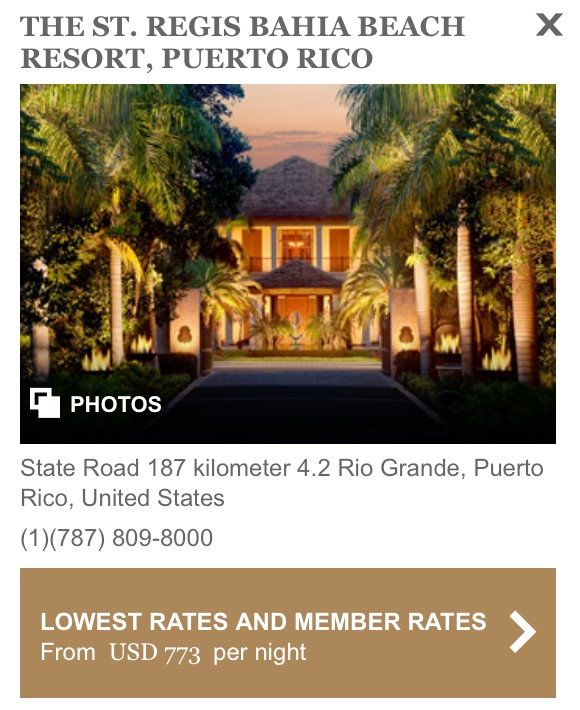 St Regis Puerto Rico Regular Price