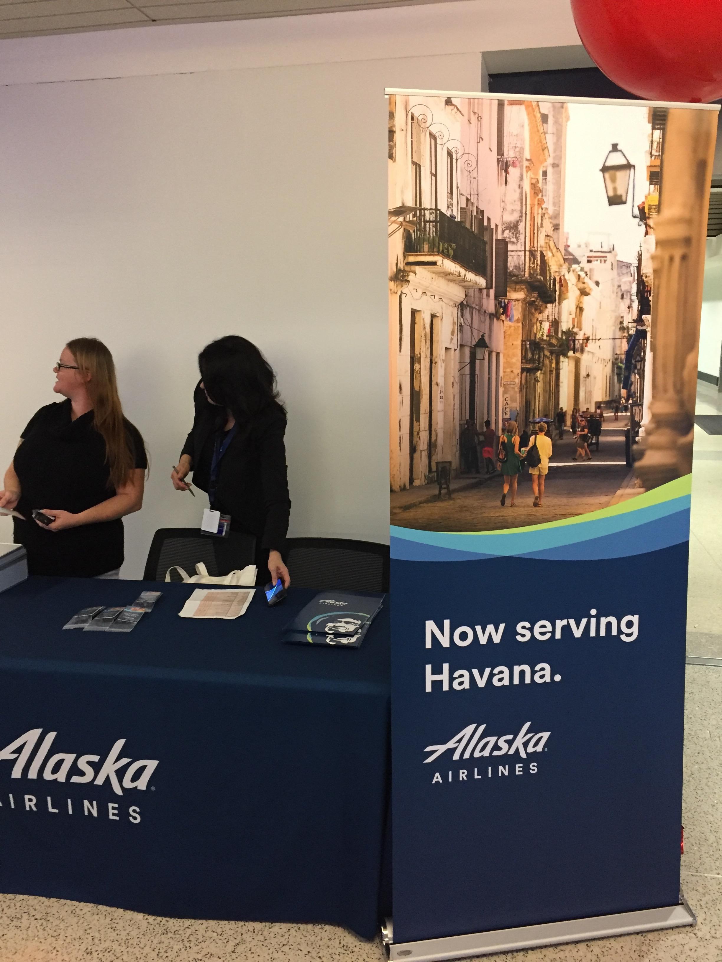 Alaska Airlines Havana Inaugural Flight Party No Mas Coach