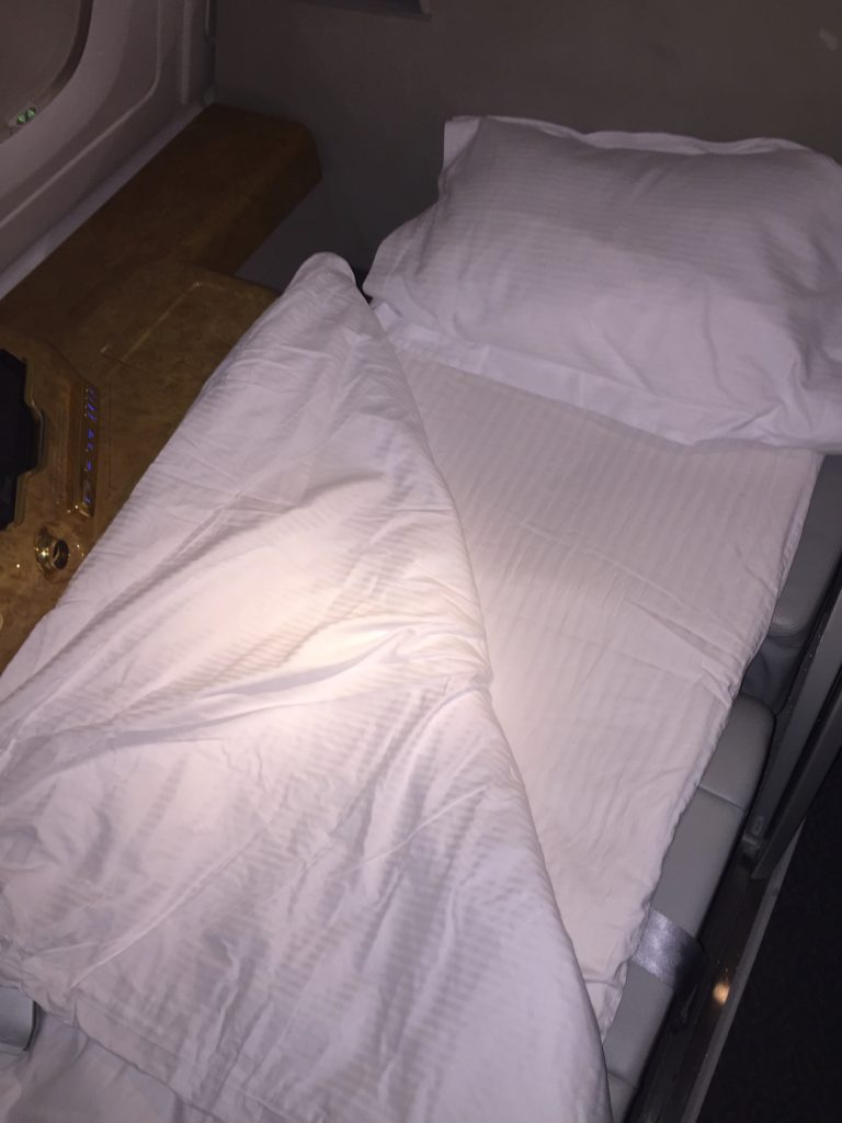 Emirates Bed and Pillow