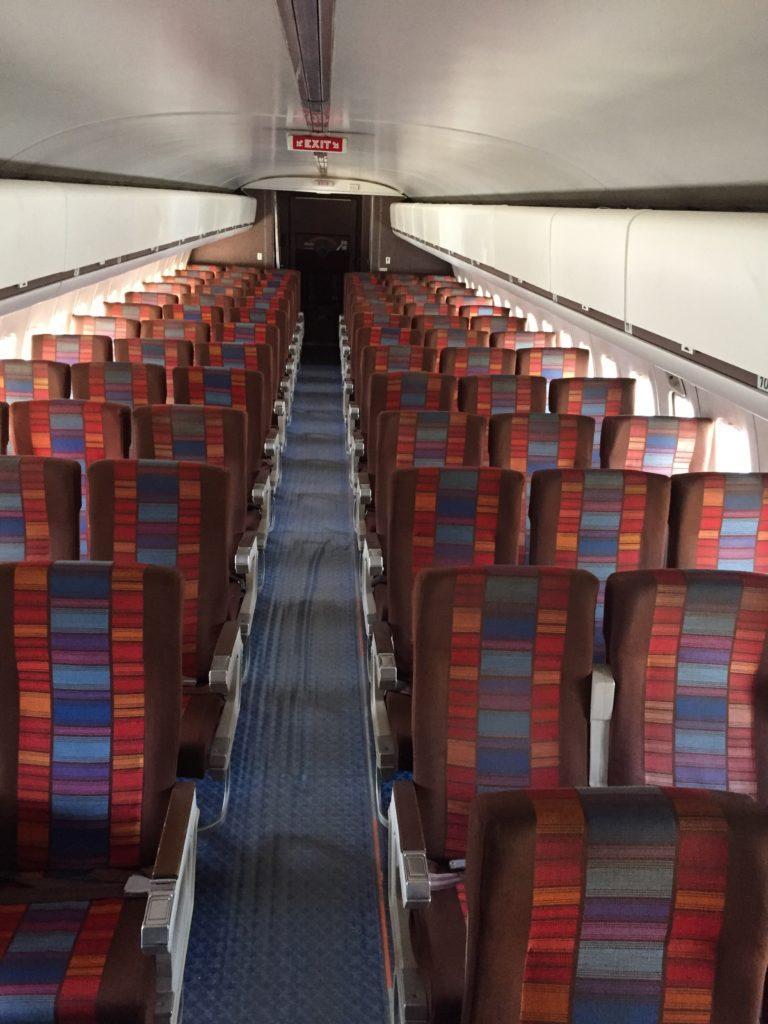 United Boeing 727 Interior