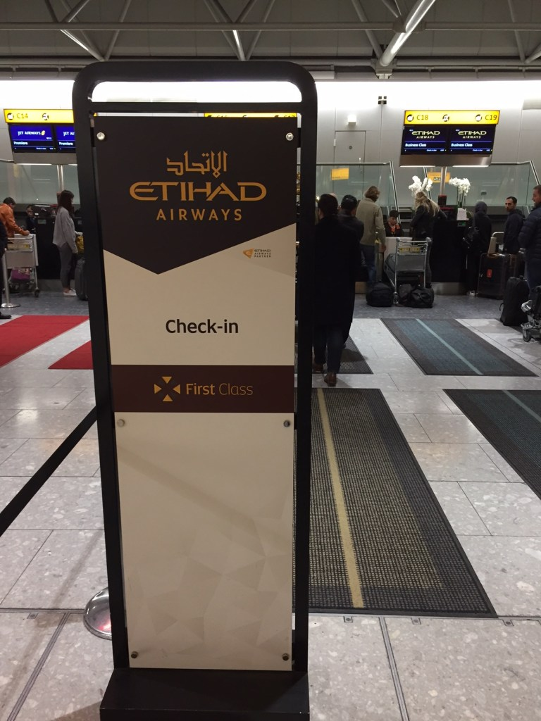 Etihad Check In Counter