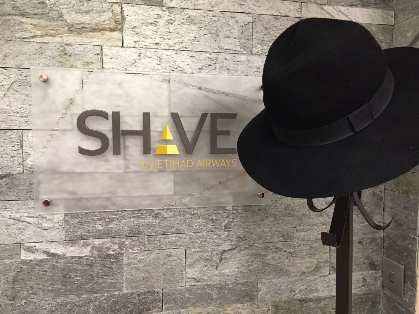Etihad Arrivals Lounge Shave