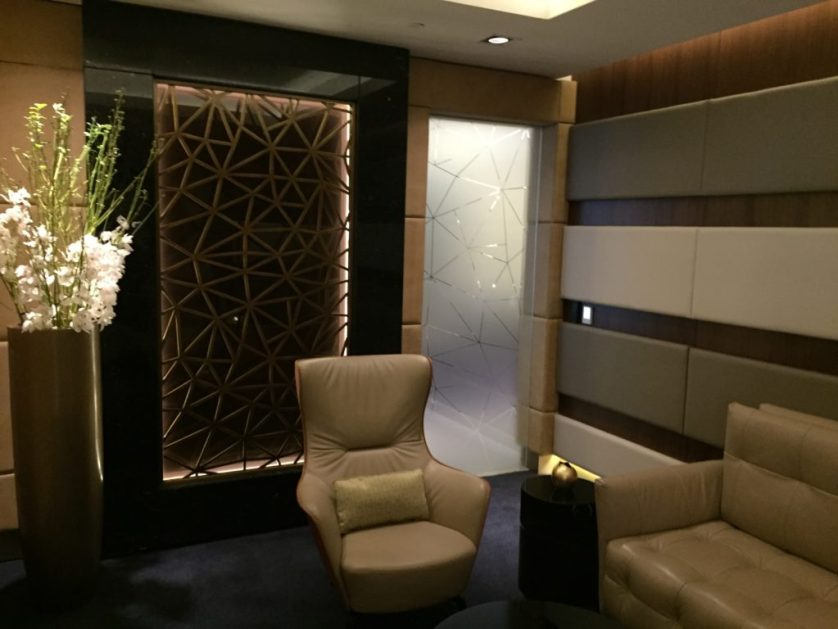 Etihad First Class Lounge Abu Dhabi Cigar Room