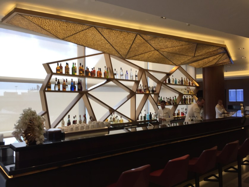 Etihad First Class Lounge Abu Dhabi Bar
