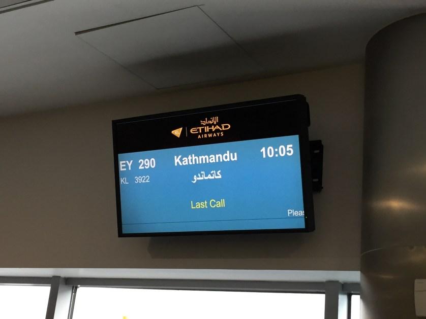 Kathmandu Airport Etihad A320