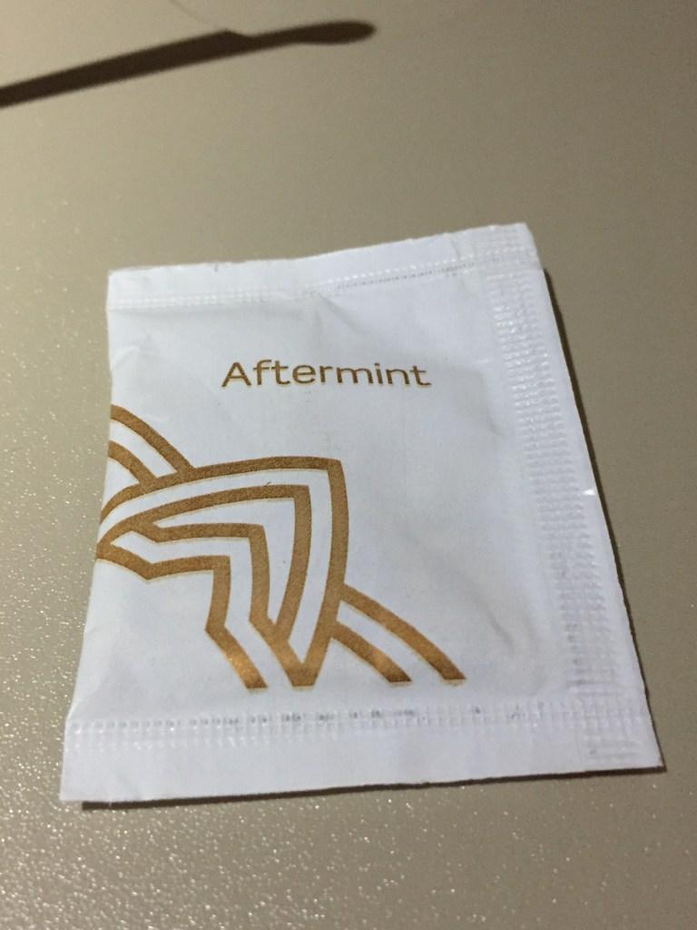 Vistara Business Class Aftermint