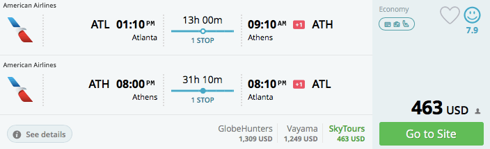 Atlanta to Athens in October