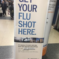 Chicago O'Hare Airport offers Flu Shots!