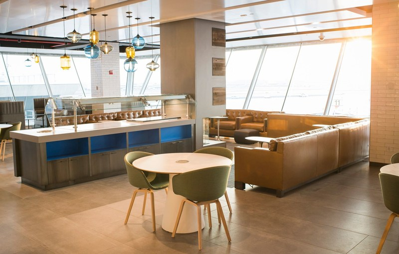 With the top quality, complimentary food and beverage options, and the amazing view, guests will arrive to the plane refreshed and ready to go. (PRNewsfoto/Alaska Airlines)