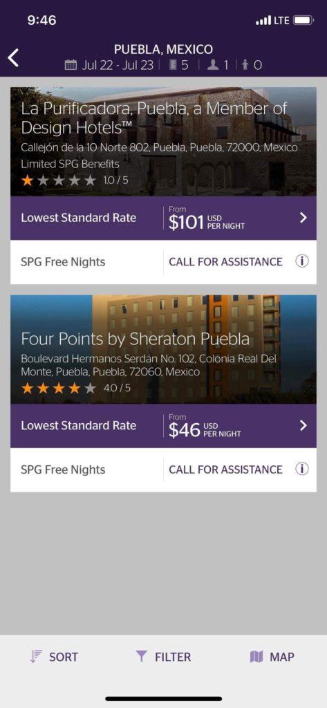 SPG App Availability