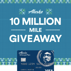 Alaska Airlines Giving away 10 million miles!
