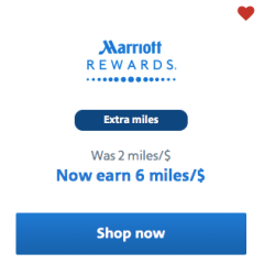 Marriott Bonvoy offering up to 6 EXTRA miles per dollar today!