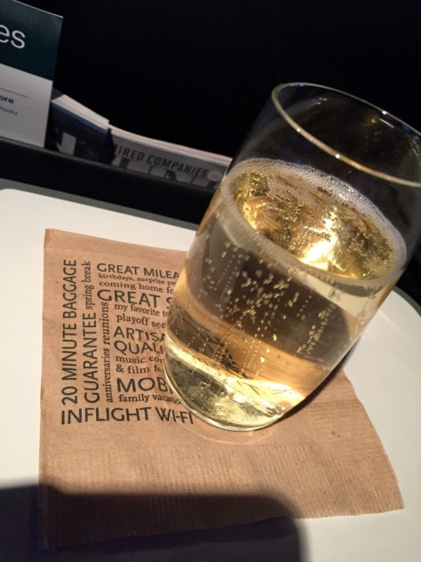 Alaska Airlines Champagne