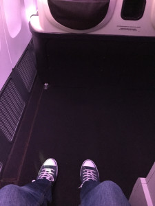 Leg Room in the Business Class Seat
