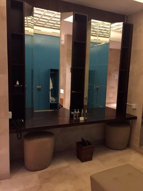 Men's locker room area