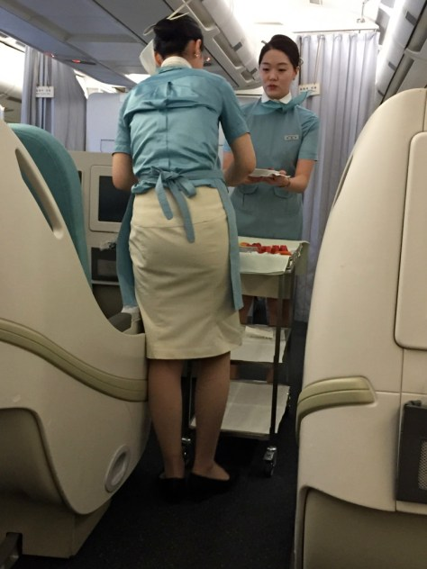 Korean Air Business Class Breakfast Cart