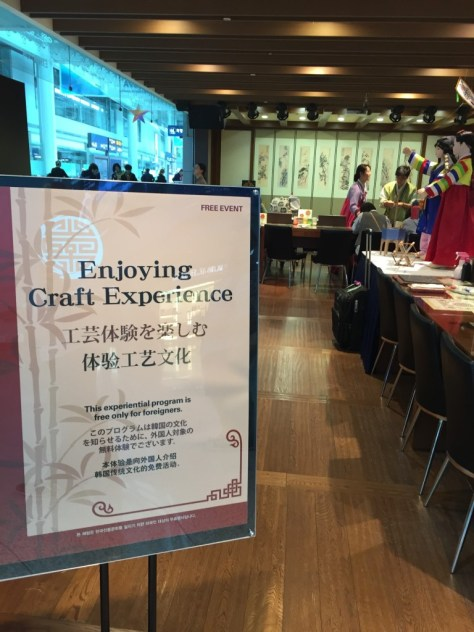 Enjoying craft experience