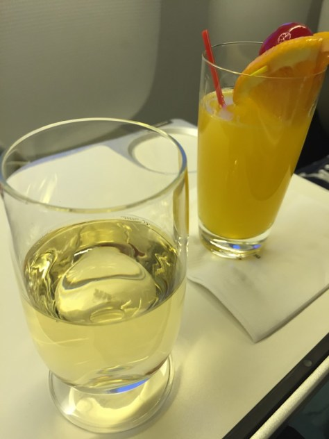 Pre Flight Drinks Korean Air