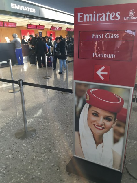 Emirates First Class Check In Counter, Washington DC