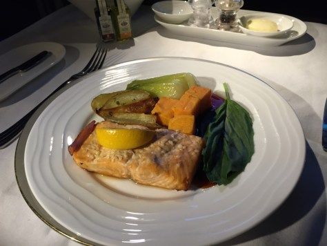 Emirates Salmon and Veggies